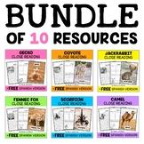 Close Reading Passages - Desert Animal Bundle