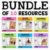 Desert Animal Close Reading Passages Bundle