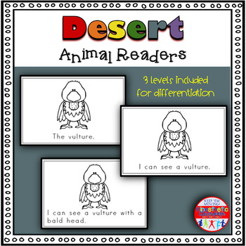 Desert Animals - A Differentiated Set of Emergent Readers