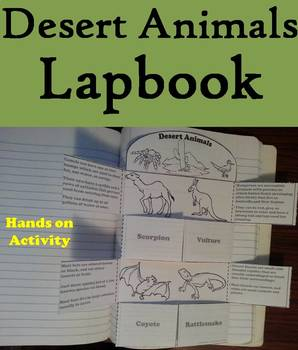 Desert Animals Activity: Interactive Notebook Foldable/ Coloring Book