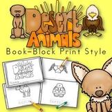 Desert Animals Book for Kindergarten and 1st Grade {Block Print Style}