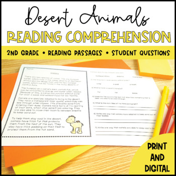 Desert Animals Close Reading - Distance Learning