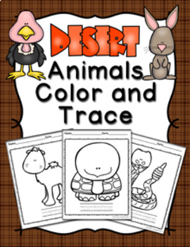 Desert Animals Color and Trace