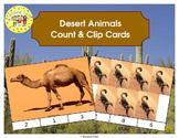 Desert Animals Clip Task Cards