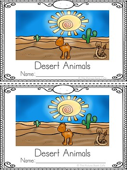 Desert Animals Emergent Reader