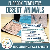 Desert Animals Flipbooks and Fact Sheets