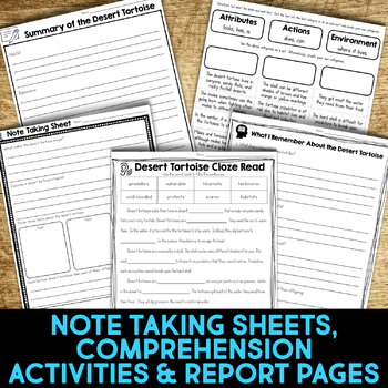 Desert Animals: Informational Article, QR Code Research Page & Fact Sort