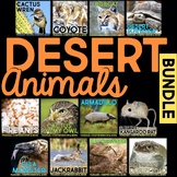 Desert Animals BUNDLE: Informational Article, QR Code Research Page & Fact Sort