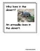 Desert Animals- Informational Text (level 3-4)