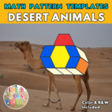 Desert Animals   Math Pattern Block Templates printables