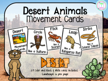 Desert Animals Movement Cards/Brain Break