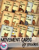 Desert Animals Movement Cards for Preschool and Brain Break