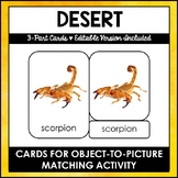 Desert Animals (North America) - 3 - Part Cards - Montesso