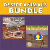 Desert Animals Printable Puzzles & Math Blocks Pattern Tem