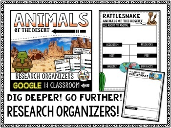 Desert Animal Report: Research Project Organizers GOOGLE CLASSROOM