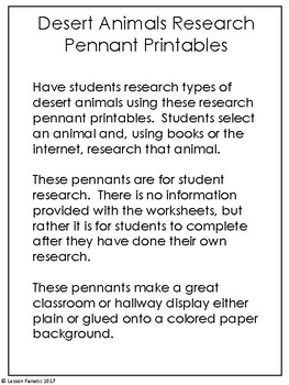 Desert Animals Research Pennant Posters