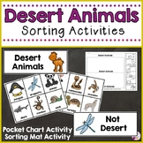 Desert Animals Sorting Activities