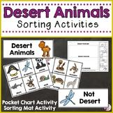Desert Animals Sorting Activities