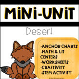 Desert Animals Stem Mini Unit with Math and Literacy Centers