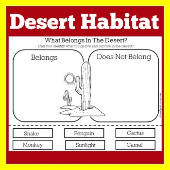 Desert Animals Worksheet | Teachers Pay Teachers