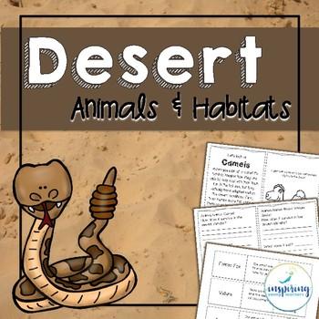 Desert Animals and Habitat Unit