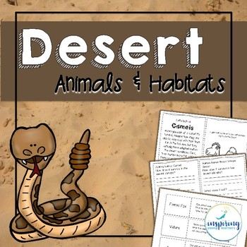 Desert Animals and Habitat