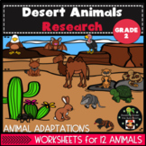 Desert Animals and Habitat Research Second Grade