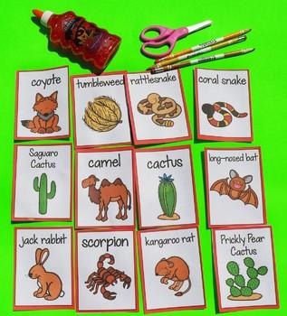 Animal Habitats First Grade - Fifth & Kindergarten - Desert Animals Unit 16