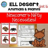 Animal Habitats First Grade - Fifth & Kindergarten - Desert Animals ESL ELL