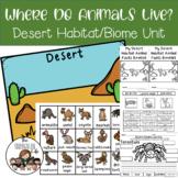 Desert Animals Facts with Habitat Vocabulary Photographs a