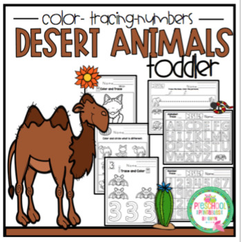 """Desert Animals for Toddlers """"No Prep"""""""