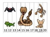 Desert Animals themed 11-20 Number Sequence Puzzle Game. P