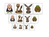 Desert Animals themed Size Sorting. Printable Preschool Game
