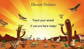 Desert Habitat Attendance for SMART Board