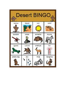 Desert BINGO