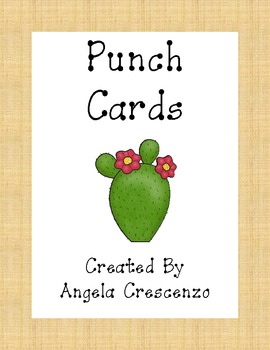 Desert Themed Punch Card