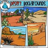 Desert Background Scenes Clip Art - Chirp Graphics
