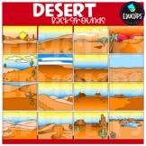 Desert Backgrounds Clip Art Set {Educlips Clipart}