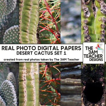 Desert Cactus: No Credit Required Digital Photo Textures