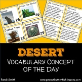 Desert Vocabulary Concept of the Day