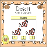 Desert Count and Clip Task Cards