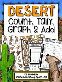 Desert Count, Tally, Graph and Add --- Desert Graphing Math Center