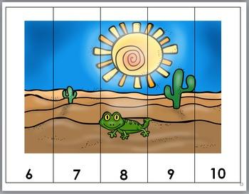 Desert Habitat Number Puzzles - Numbers 1-10