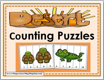 Desert Counting Puzzles Numbers 1-10