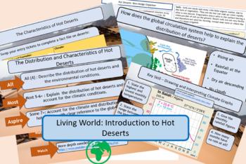 Desert Distribution and Climate GCSE AQA 9-1 Living World.