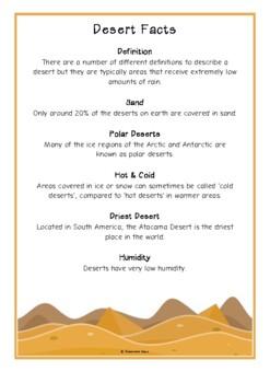 Desert Fact Cards