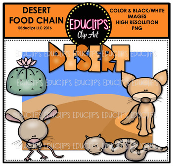 Desert Food Chain Clip Art Mini Bundle {Educlips Clipart}