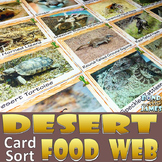 Food Chain and Food Web: Desert Food Card Sort
