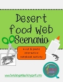 Desert Food Web Scenario (Cut & Paste Activity for Interactive Notebooks)