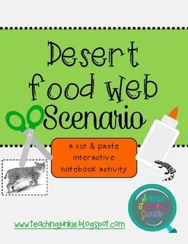 Desert Food Web Scenario (Cut & Paste Activity for Interactive Notebooks)